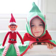 Elf on the Shelf Christmas towel for toddlers
