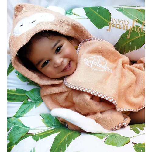 monkey character hooded bath towel for swimming age 1, age 2, age 3