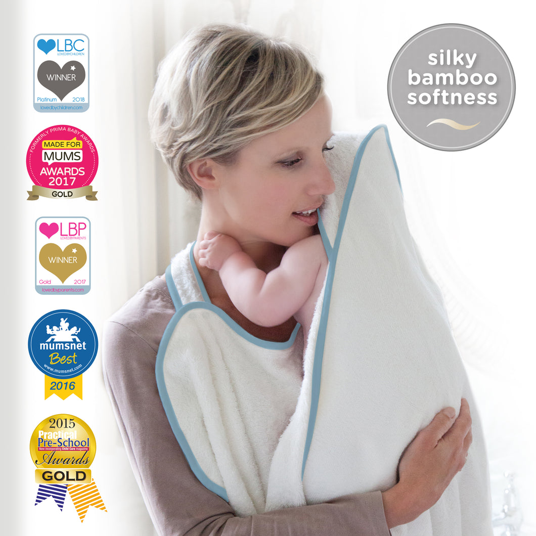 apron towel for safe baby bathing