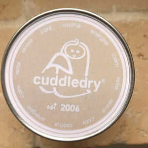 cuddledry calm care soothe energise relax candle for birth and new baby arrival