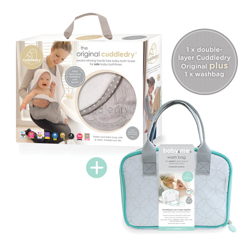 Handsfree towel & Baby&Me washbag Bundle