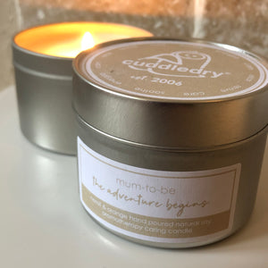 thoughtful gift for pregnant mama relaxing candle aromatherapy neroli & orange