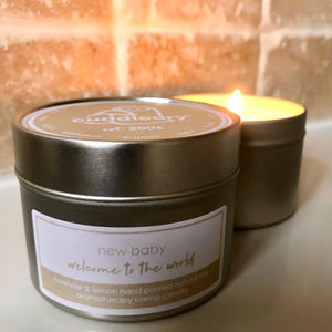 newborn baby gift for mum and dad aromatherapy relaxation candle