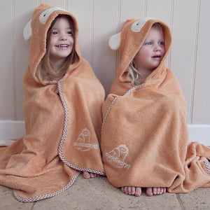 monkey character toddler hooded bath towel