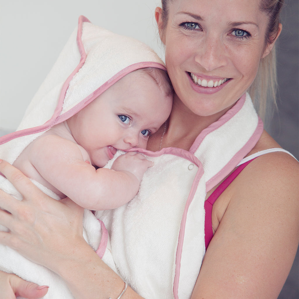 hooded bath towel - safe baby bathtimes with the award winning Cuddledry towel