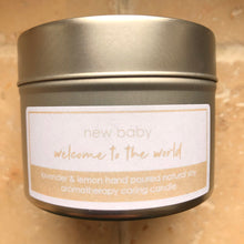 Load image into Gallery viewer, thoughtful gift for new mum parents welcome to the world new baby candle