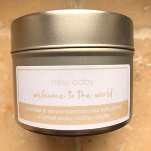 thoughtful gift for new mum parents welcome to the world new baby candle