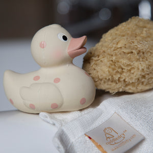 natural rubber cuddle duck teether baby bath toy