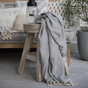 grey geometric throw interiors recycled cuddledry towel quality