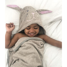 Load image into Gallery viewer, Cuddlebunny bamboo soft hooded towel