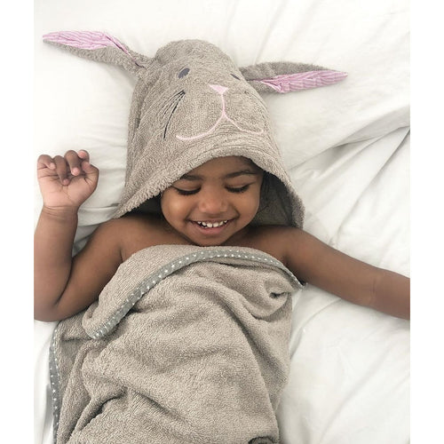 Cuddlebunny bamboo soft hooded towel