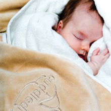 Load image into Gallery viewer, hooded bath towel - safe baby bathtimes with the award winning Cuddledry towel