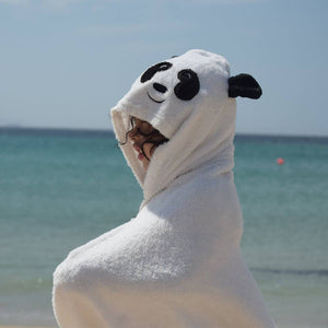 panda character towel made with bamboo for beach and swimming