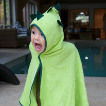 Load image into Gallery viewer, fun dinosaur character towel for bathtime and swimming