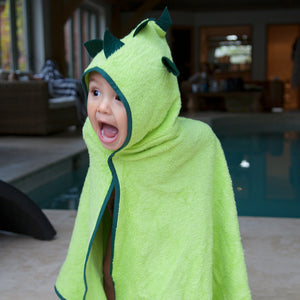 fun dinosaur character towel for bathtime and swimming