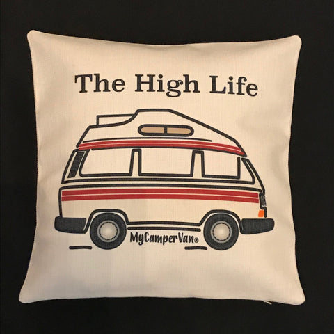 """MyCamperVan T25 Camper Cushion Cover """"The High Life"""""""