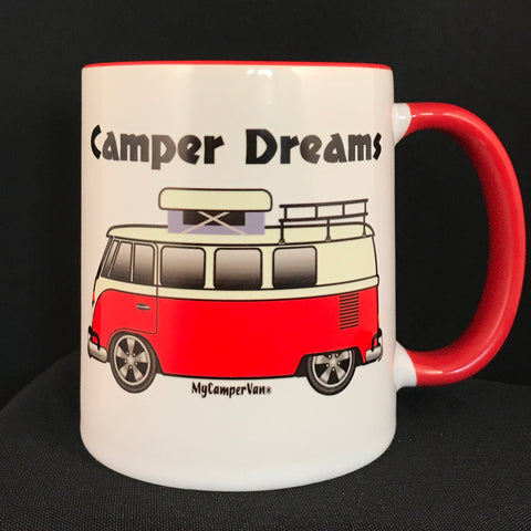 MyCamperVan T1 Split screen camper ceramic mug