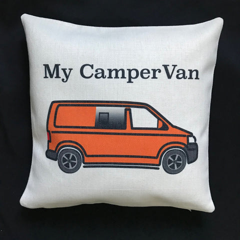 MyCamperVan T5 camper personalised cushion cover