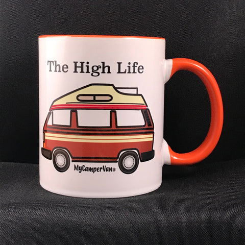 "MyCamperVan T25 high top campervan ceramic mug ""High Life"""