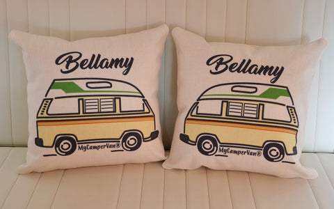 personalised vw camper van cushions
