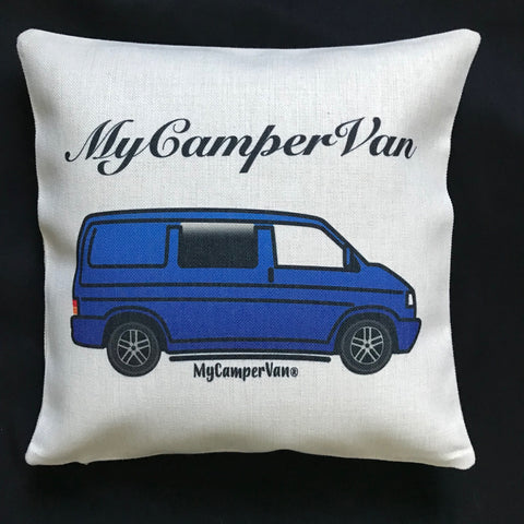 MyCamperVan T4 Kombi cushion cover in blue