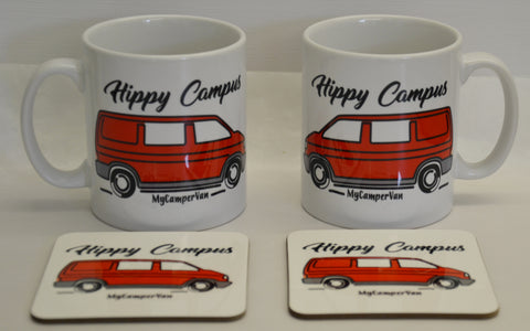 VW T4 Transporter personalised mug and coaster