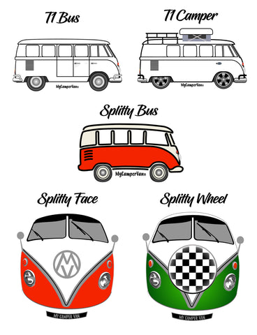 MyCamperVan T1 / Splitty design options