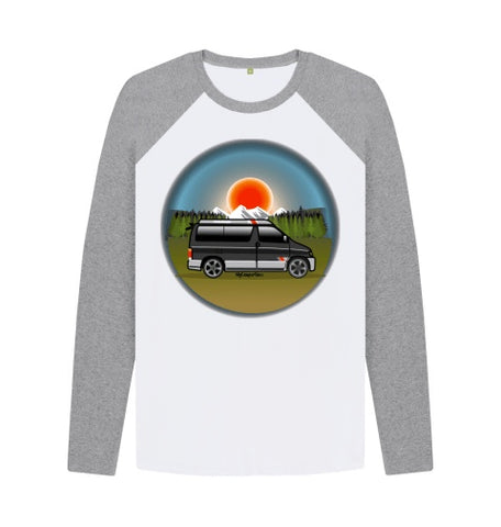 MyCamperVan Bongo Mountains baseball shirt