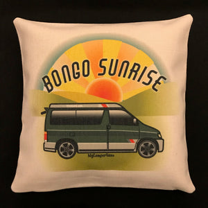 MyCamperVan Bongo cushion cover Sunrise design