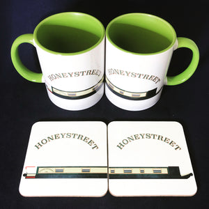 MyCamperVan personalised narrowboat mugs and coasters