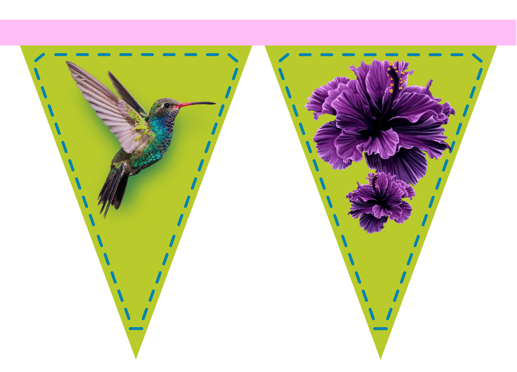 Fabric Bunting - Hummingbird