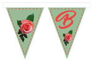 Fabric Bunting - Pink Roses