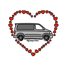 MyCamperVan ceramic heart, silver T5 California