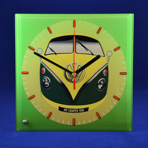 MyCamperVan glass clock vw split screen