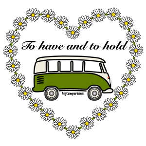 Ceramic Heart Coaster - Splitty with Daisies