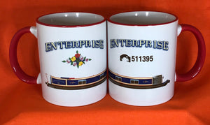 MyCamperVan personalised narrowboat mugs