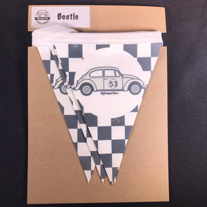 Clearance - Beetle Fabric Bunting