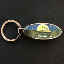 MyCamperVan Bongo camper keyring with moonrise design