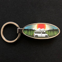 MyCamperVan Bongo camper keyring with mountains design