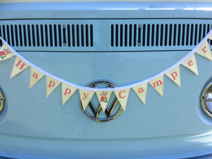 Fabric Mini Bunting - Happy Camper