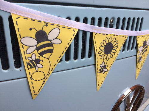 Fabric Bunting - Bees & Sunflowers