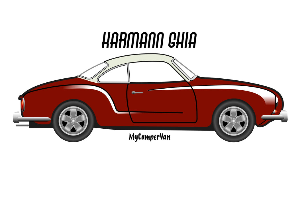 Karmann Ghia deep red