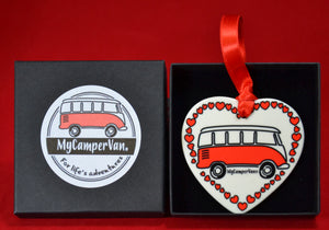 MyCamperVan personalised ceramic heart Valentine's gift