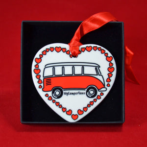 MyCamperVan ceramic heart split-screen bus