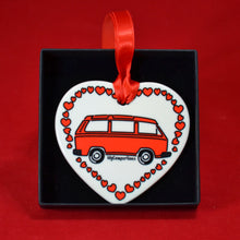 MyCamperVan ceramic heart type 25 camper red