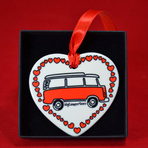 MyCamperVan ceramic heart late bay camper red