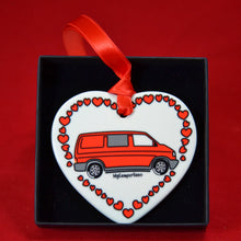 MyCamperVan ceramic heart type 4 camper red