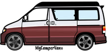 MyCamperVan Bongo camper design in silver over red