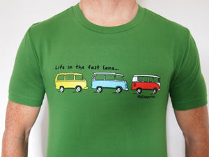 Clearance - T-Shirt Fast Lane - Bright Green