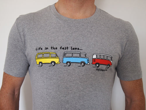 Clearance - T-Shirt Fast Lane - Athletic Grey